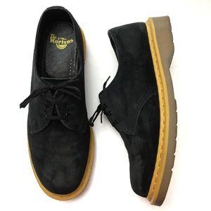 Doc Martens X Stussy Black Suede Oxford Shoes